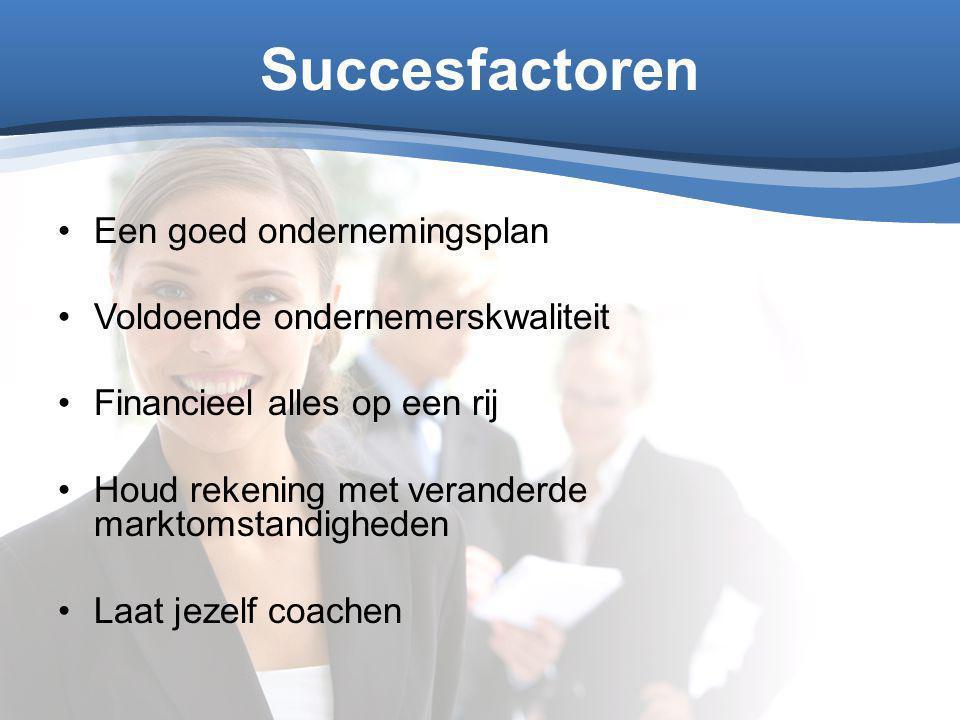 Succesfactoren Een goed ondernemingsplan