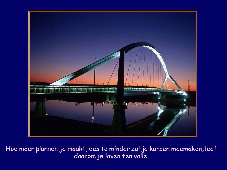 Hoe meer plannen je maakt, des te minder zul je kansen meemaken, leef daarom je leven ten volle.