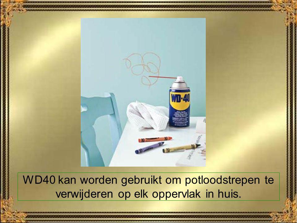 WD40 kan worden gebruikt om potloodstrepen te verwijderen op elk oppervlak in huis.