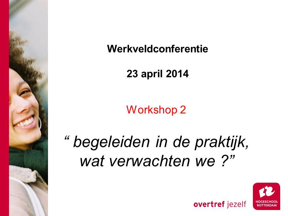 Werkveldconferentie 23 april 2014