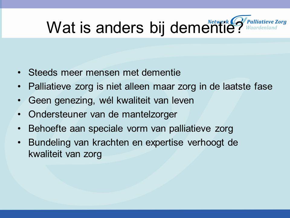 Wat is anders bij dementie