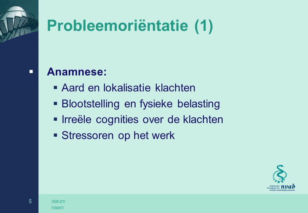 Probleemoriëntatie (1)