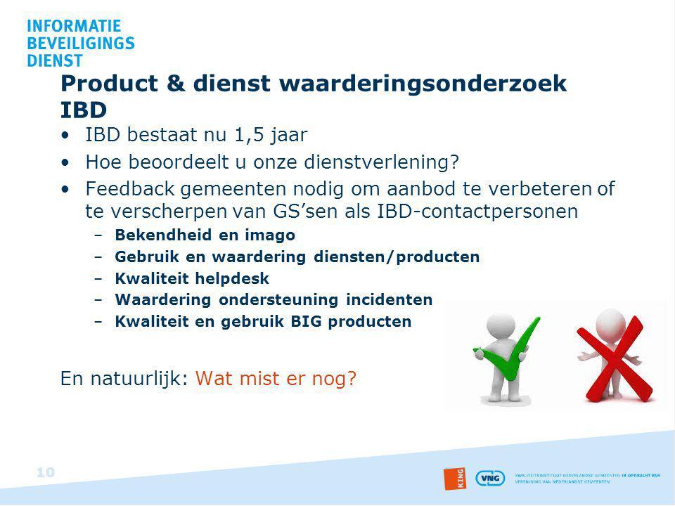 Product & dienst waarderingsonderzoek IBD