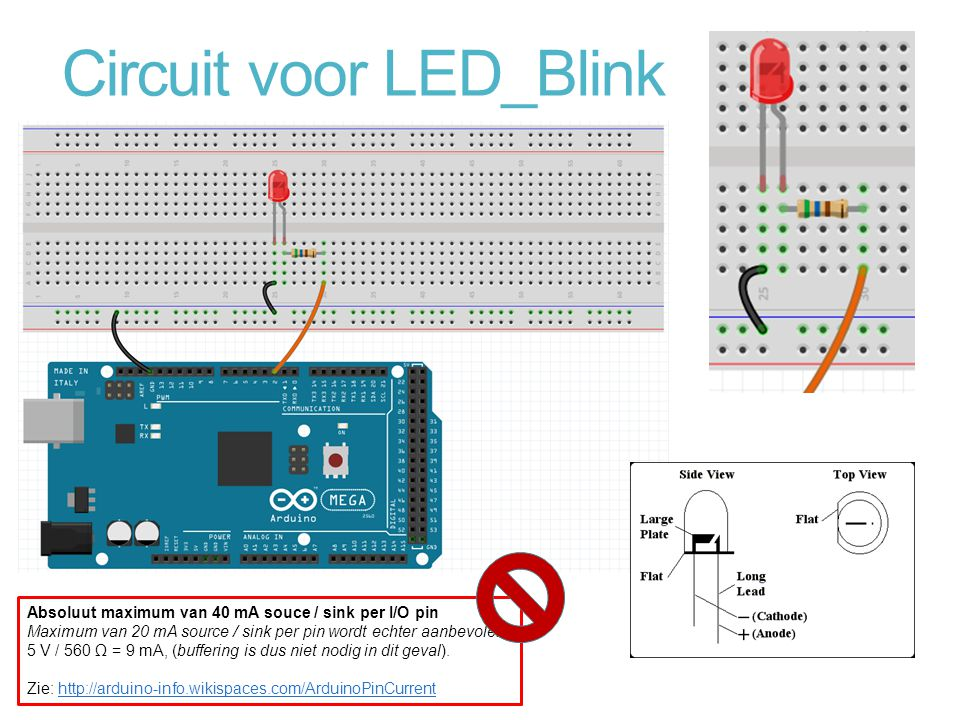 Circuit voor LED_Blink