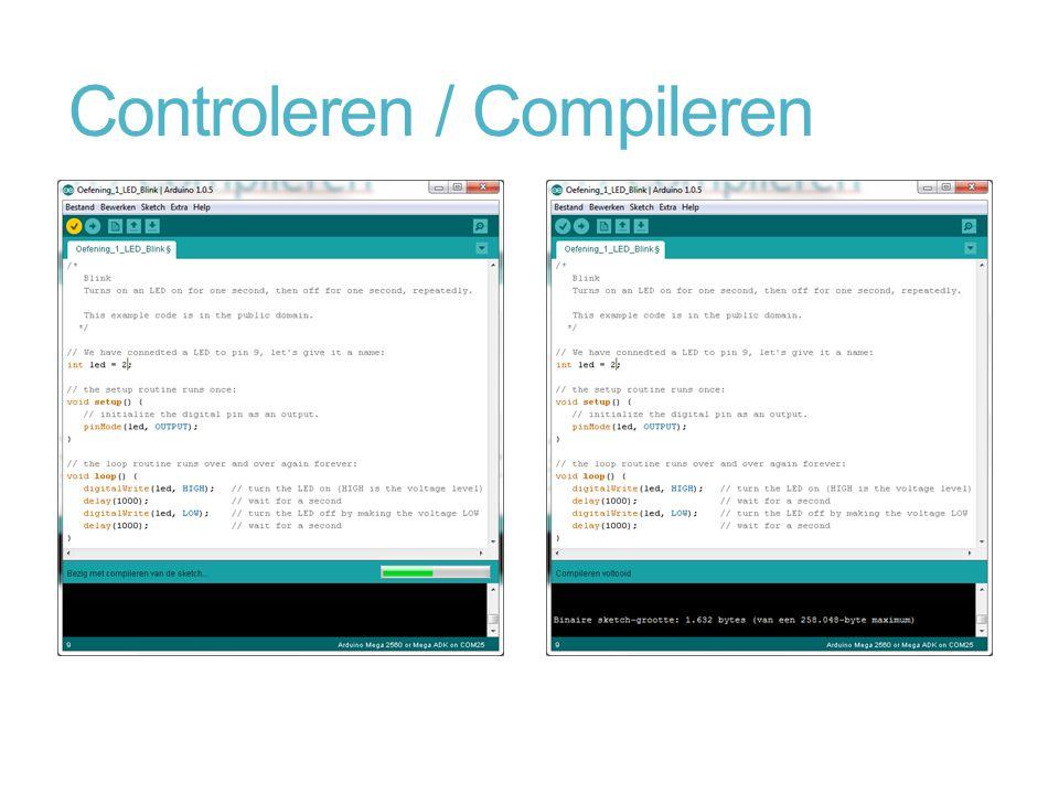 Controleren / Compileren
