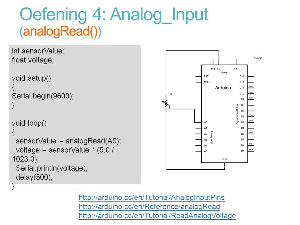 Oefening 4: Analog_Input (analogRead())