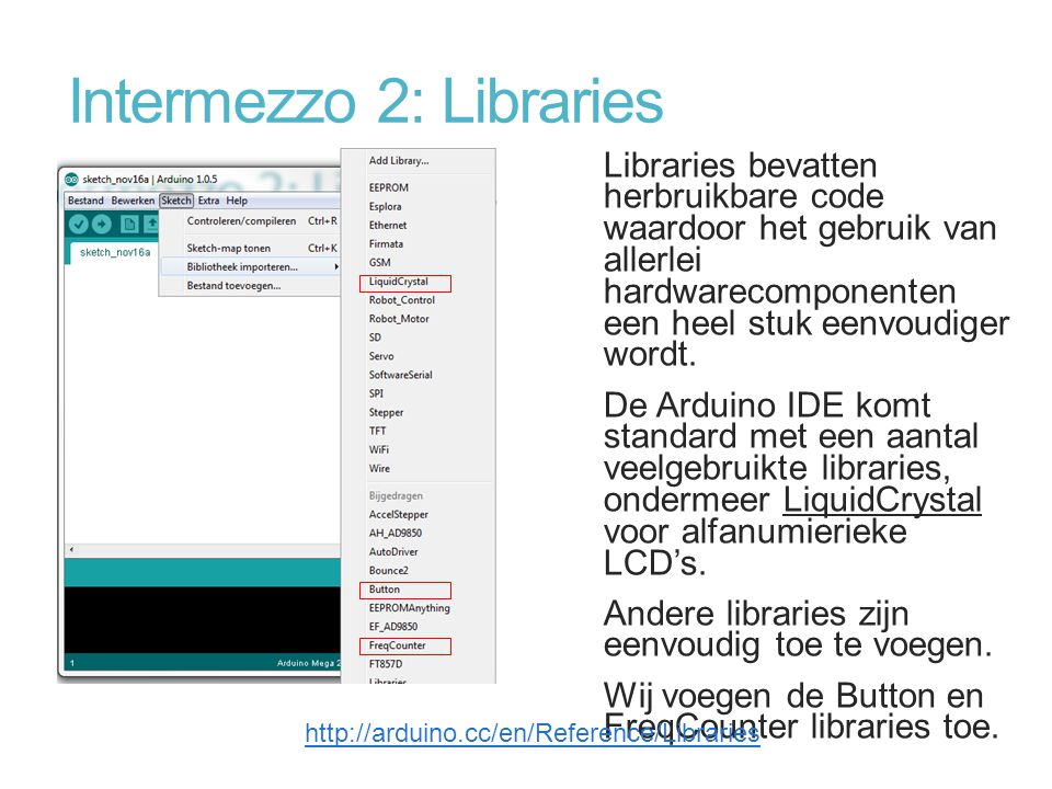 Intermezzo 2: Libraries