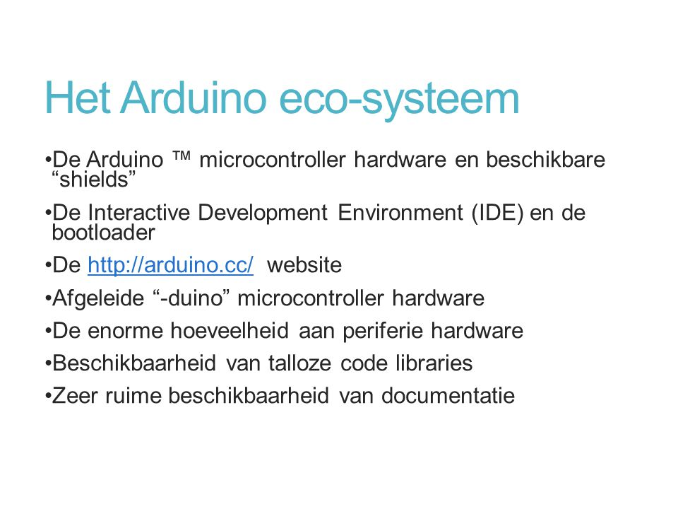 Het Arduino eco-systeem