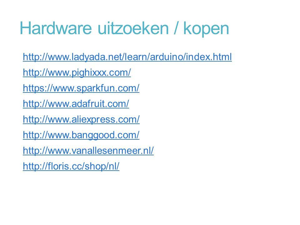Hardware uitzoeken / kopen