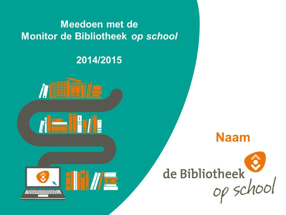 Meedoen met de Monitor de Bibliotheek op school 2014/2015