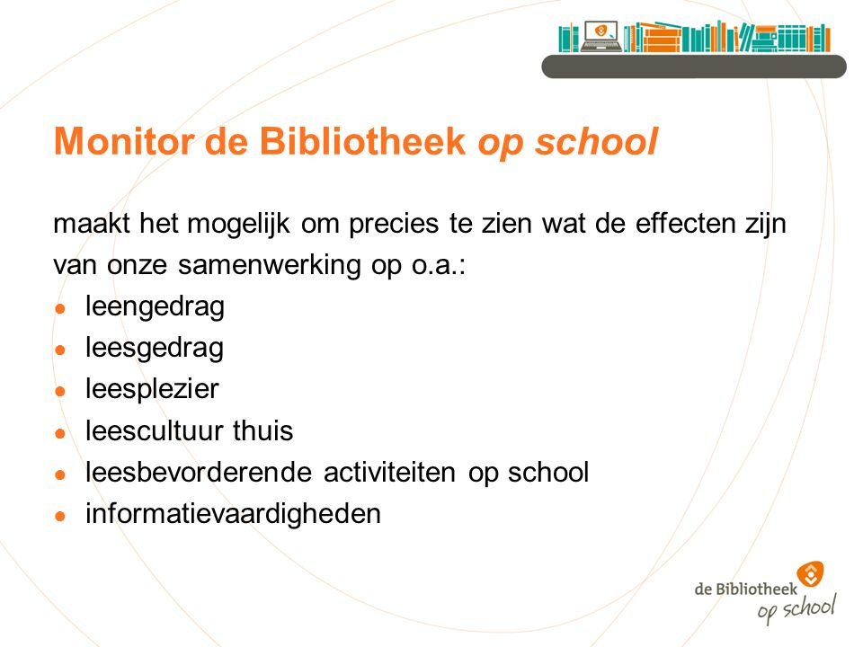 Monitor de Bibliotheek op school