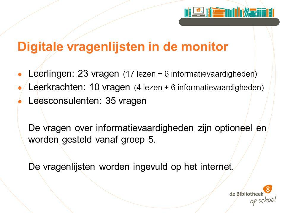Digitale vragenlijsten in de monitor