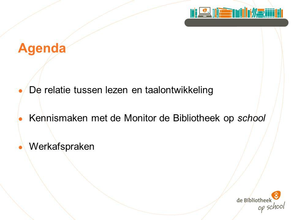 Agenda De relatie tussen lezen en taalontwikkeling