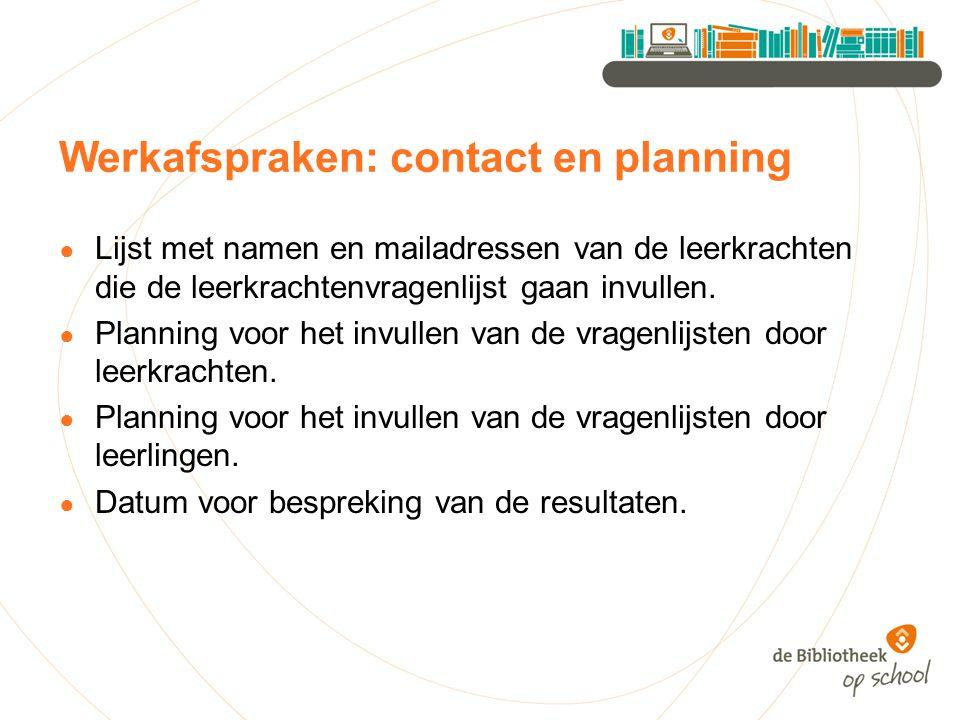 Werkafspraken: contact en planning