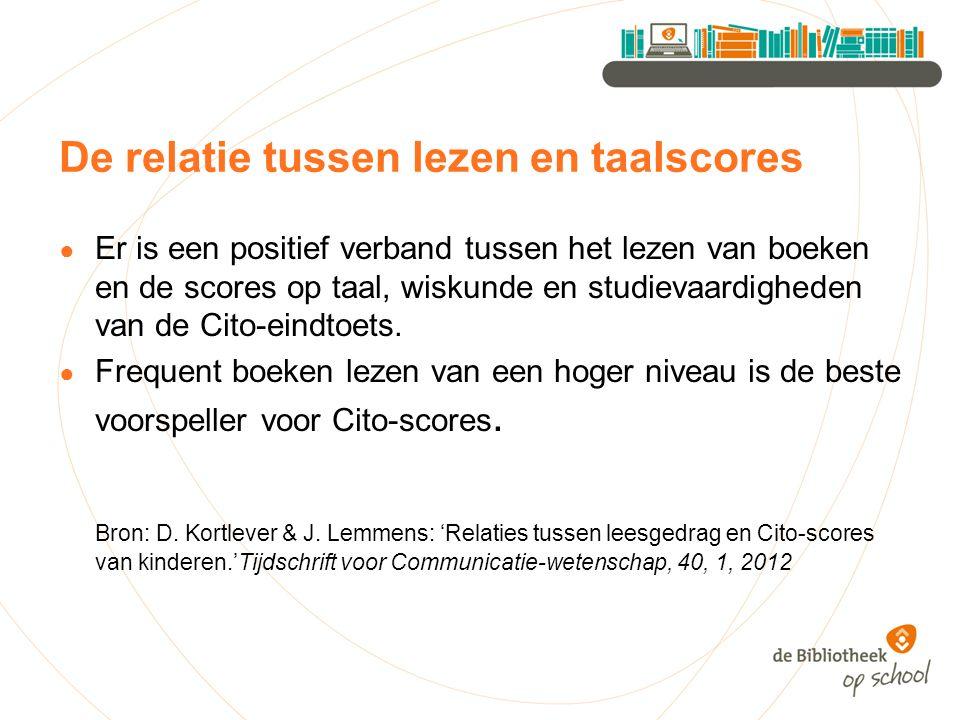 De relatie tussen lezen en taalscores
