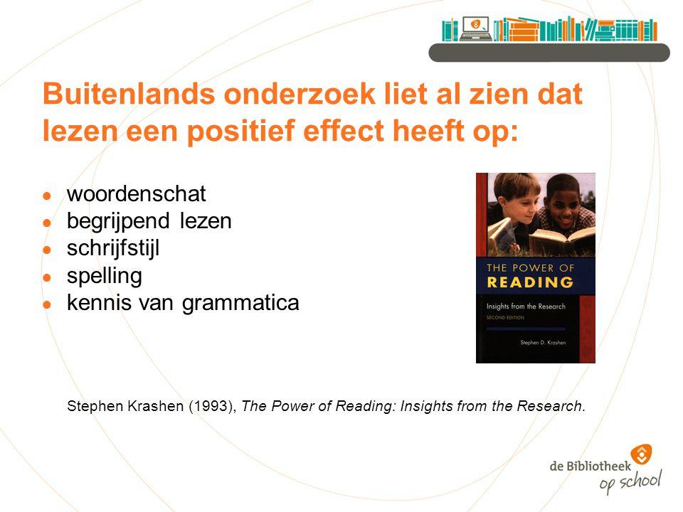 Buitenlands onderzoek liet al zien dat lezen een positief effect heeft op: