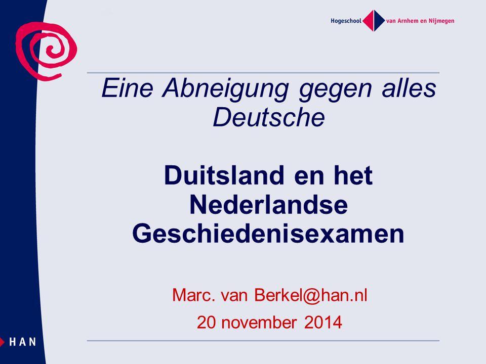 Marc. van Berkel@han.nl 20 november 2014