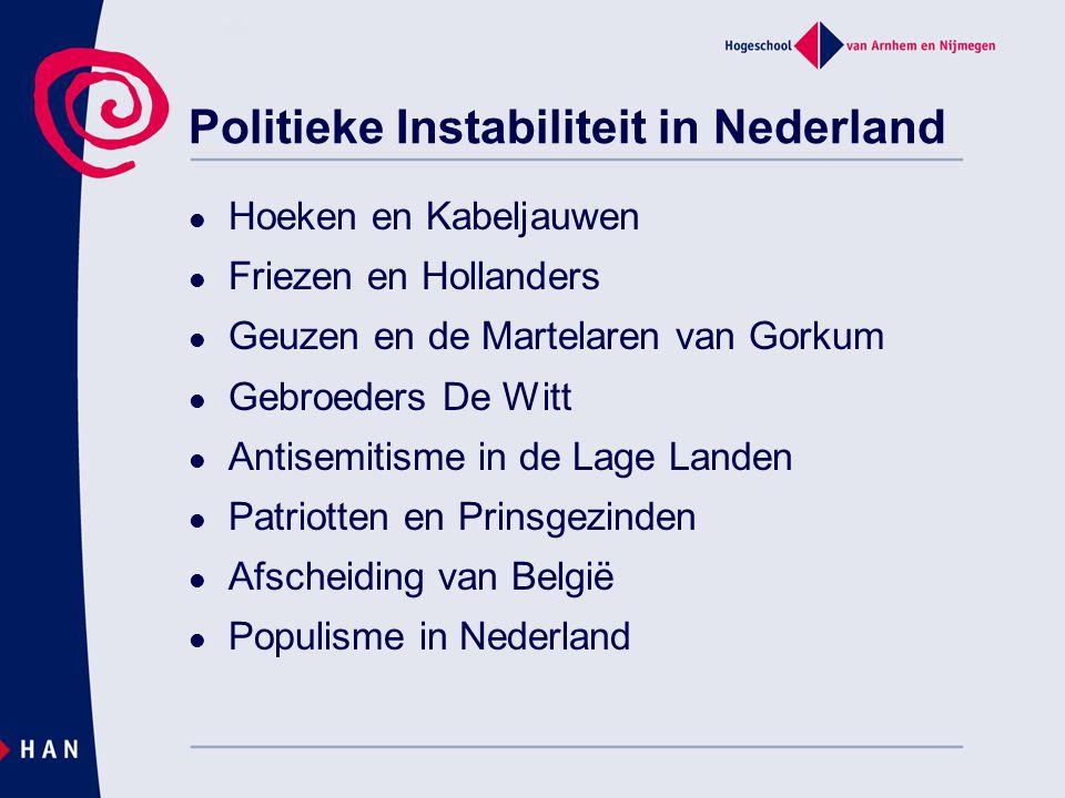 Politieke Instabiliteit in Nederland