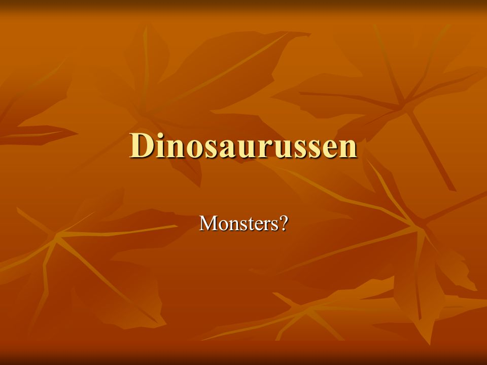 Dinosaurussen Monsters