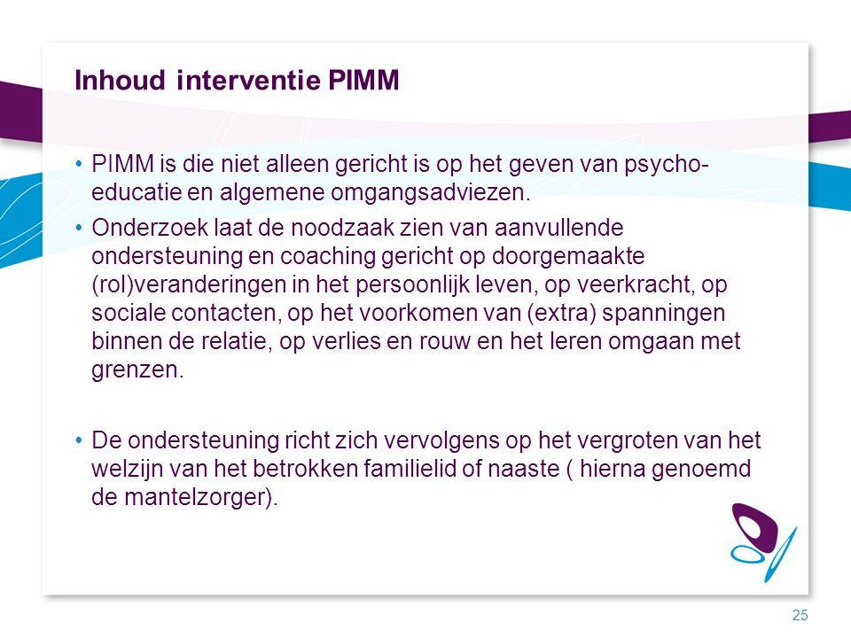 Inhoud interventie PIMM