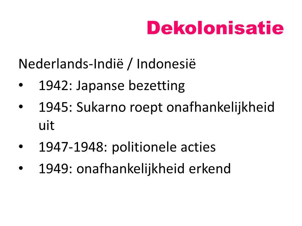 Dekolonisatie Nederlands-Indië / Indonesië 1942: Japanse bezetting