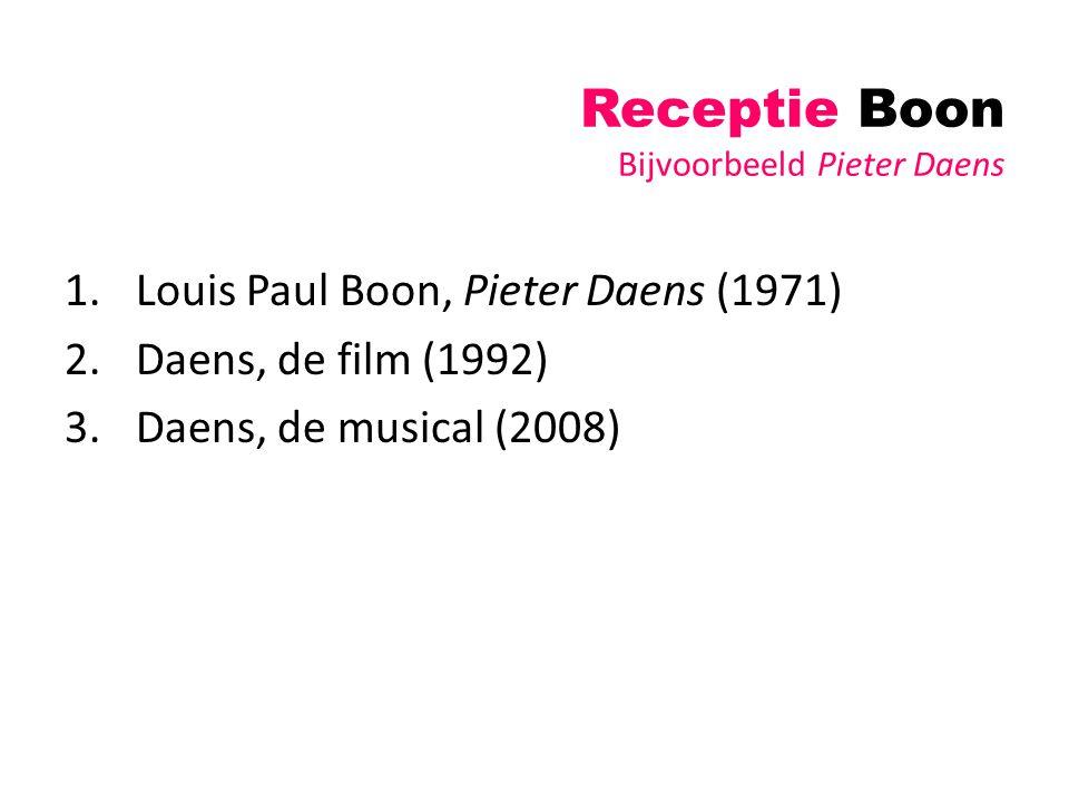 Receptie Boon Bijvoorbeeld Pieter Daens