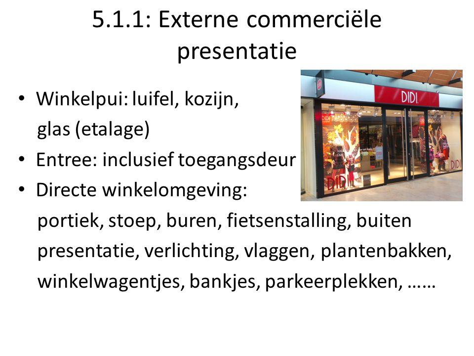 5.1.1: Externe commerciële presentatie