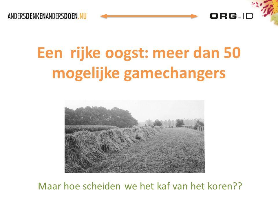Een rijke oogst: meer dan 50 mogelijke gamechangers