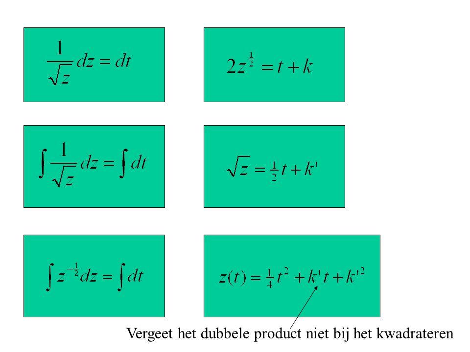 Vergeet het dubbele product niet bij het kwadrateren