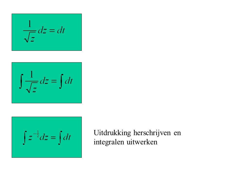 Uitdrukking herschrijven en integralen uitwerken