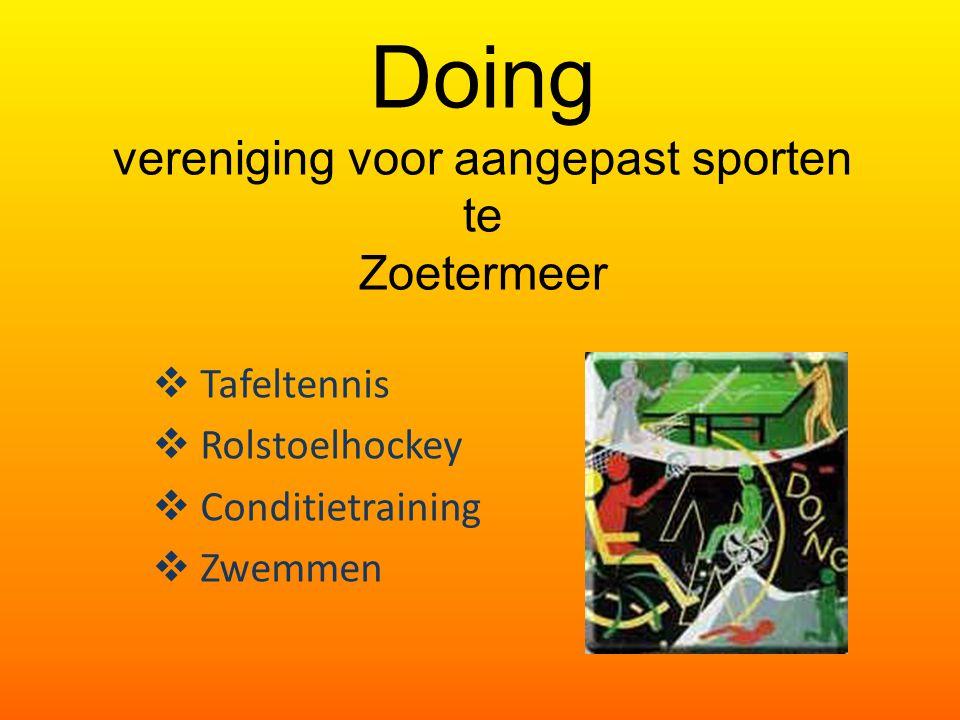 Doing vereniging voor aangepast sporten te Zoetermeer