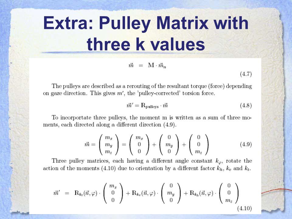 Extra: Pulley Matrix with three k values