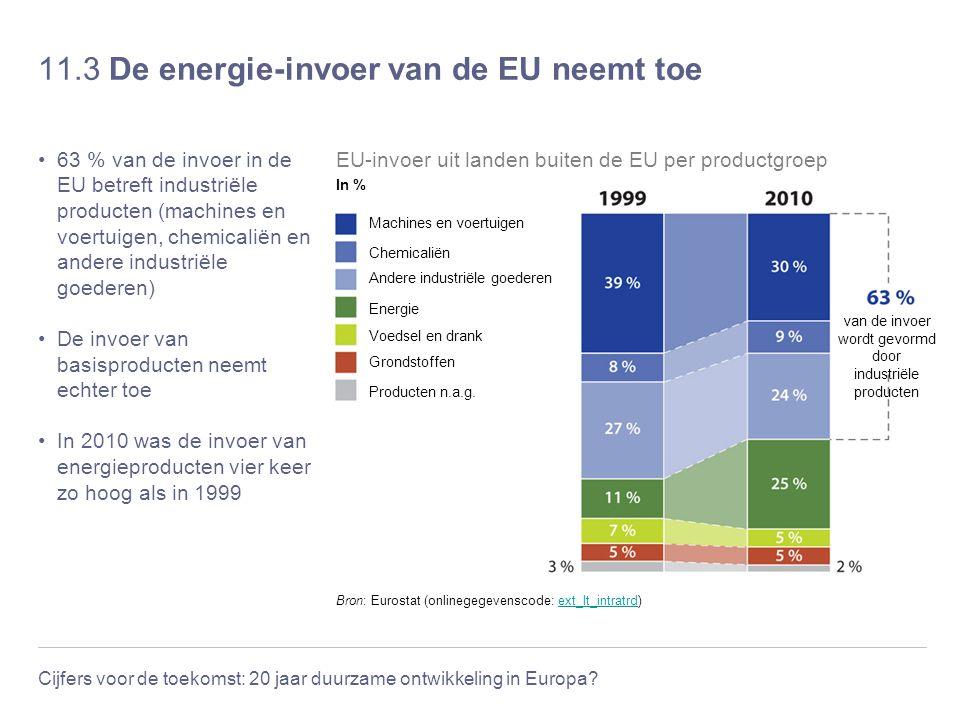11.3 De energie-invoer van de EU neemt toe