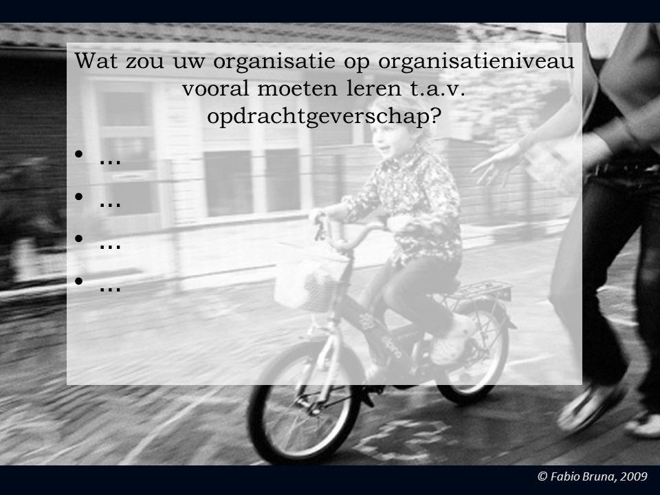 Wat zou uw organisatie op organisatieniveau vooral moeten leren t.a.v. opdrachtgeverschap
