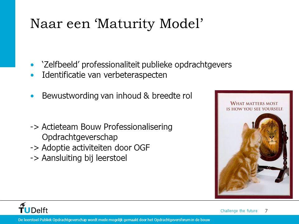 Naar een 'Maturity Model'