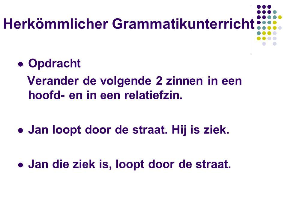 Herkömmlicher Grammatikunterricht
