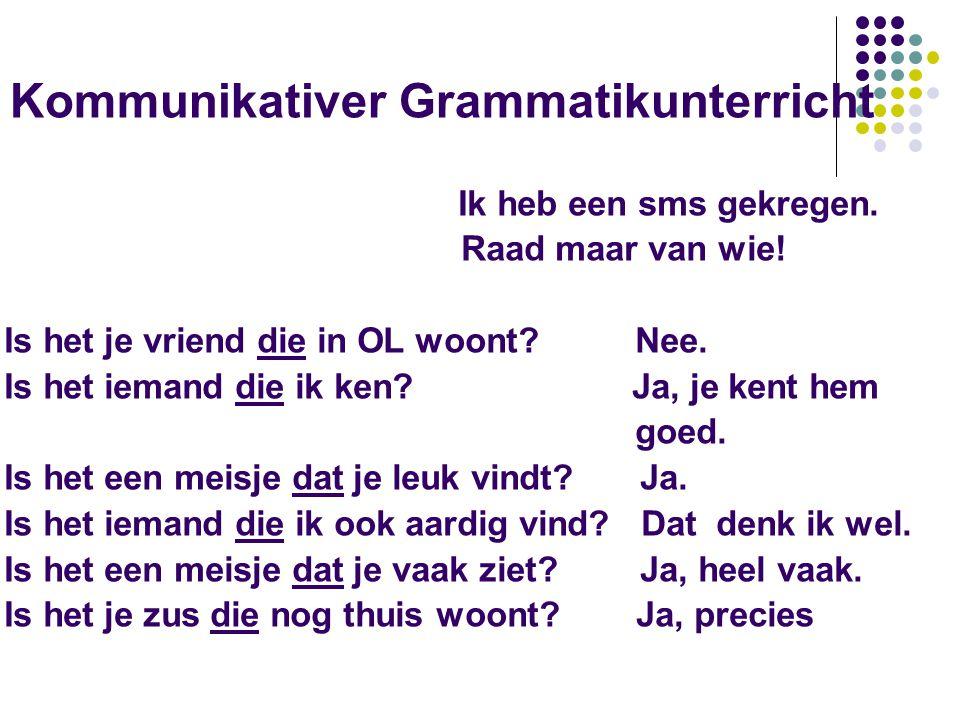 Kommunikativer Grammatikunterricht