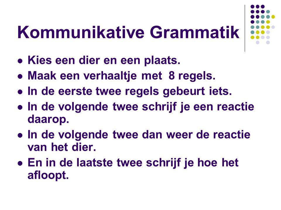 Kommunikative Grammatik