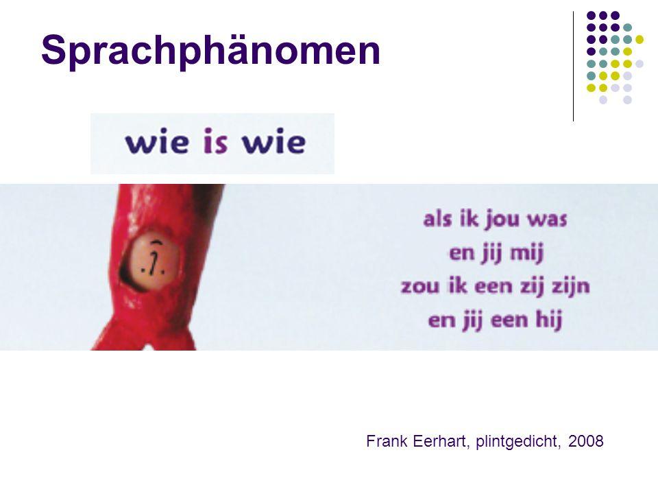 Sprachphänomen Frank Eerhart, plintgedicht, 2008