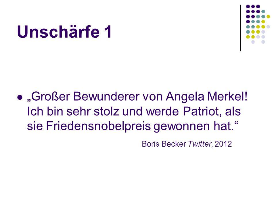 """Unschärfe 1 """"Großer Bewunderer von Angela Merkel! Ich bin sehr stolz und werde Patriot, als sie Friedensnobelpreis gewonnen hat."""