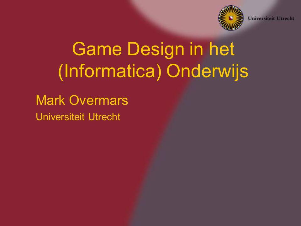 Game Design in het (Informatica) Onderwijs