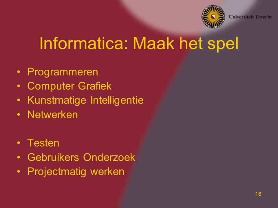 Informatica: Maak het spel