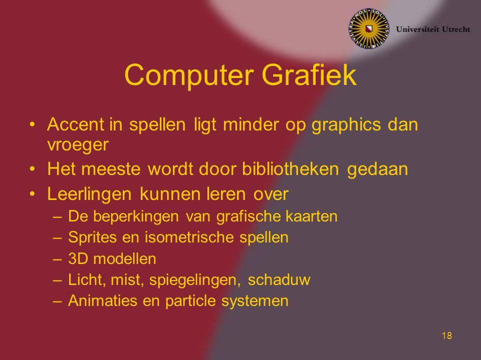 Computer Grafiek Accent in spellen ligt minder op graphics dan vroeger