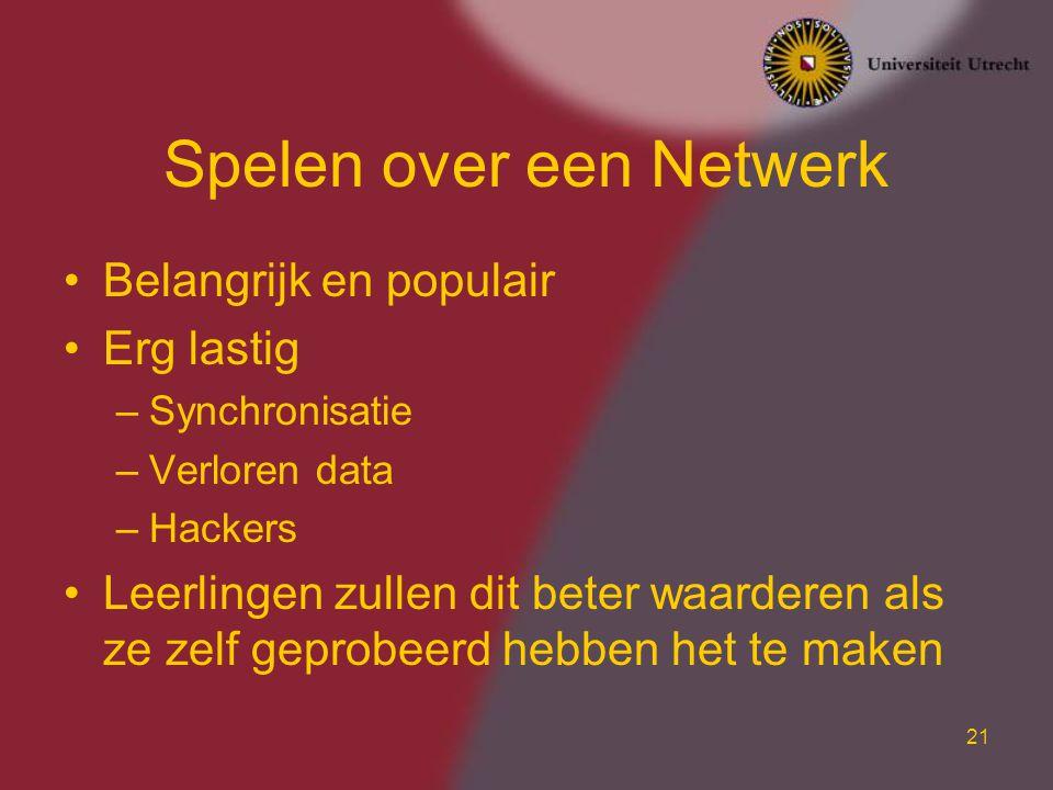 Spelen over een Netwerk