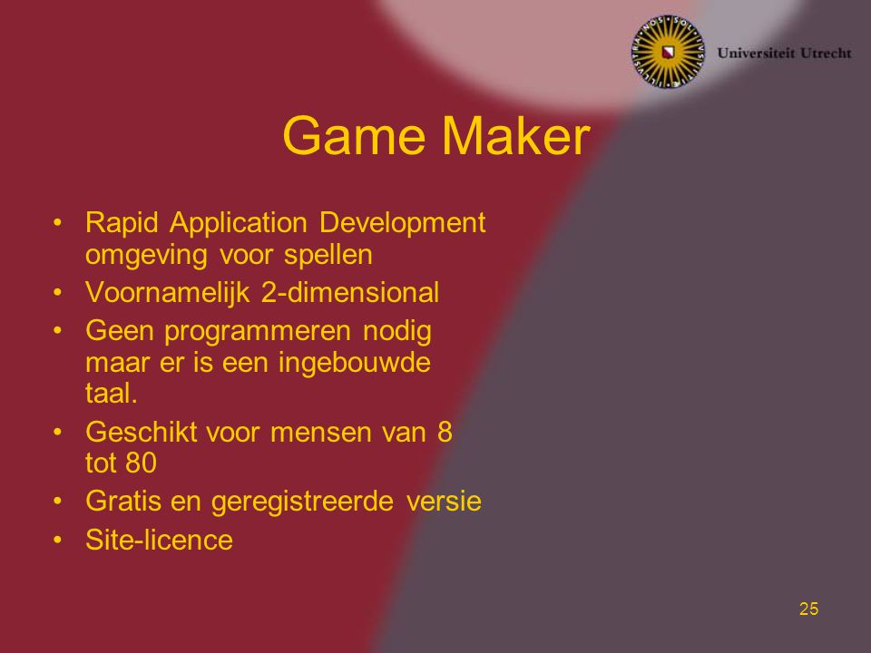 Game Maker Rapid Application Development omgeving voor spellen