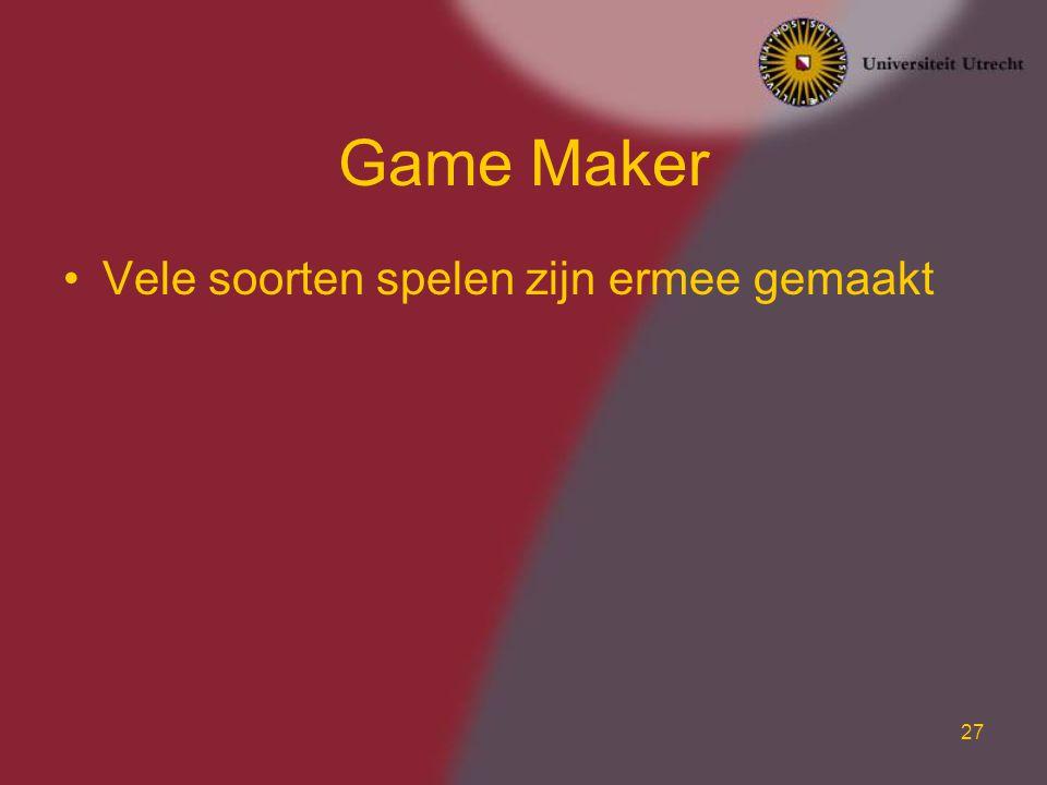 Game Maker Vele soorten spelen zijn ermee gemaakt