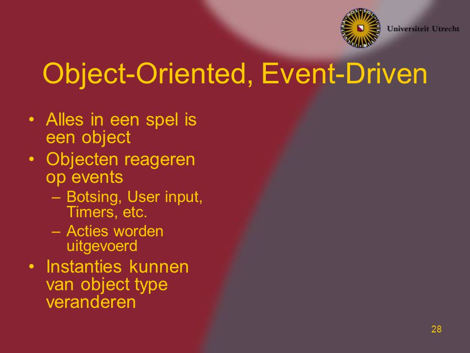 Object-Oriented, Event-Driven