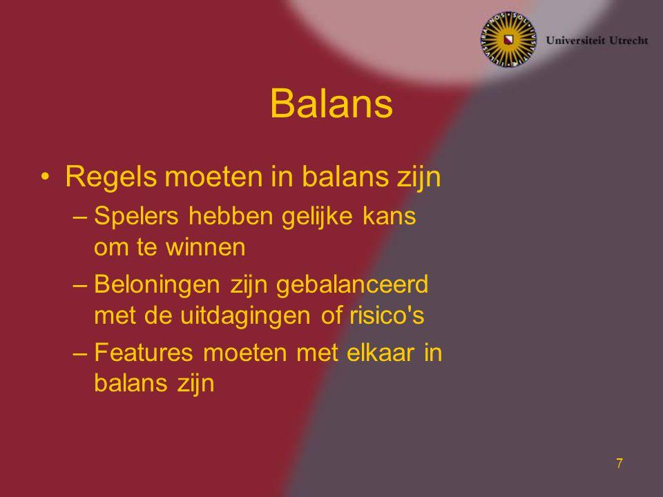Balans Regels moeten in balans zijn