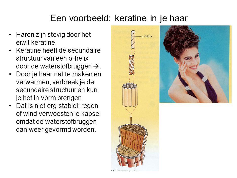 Een voorbeeld: keratine in je haar