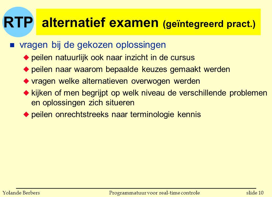 alternatief examen (geïntegreerd pract.)